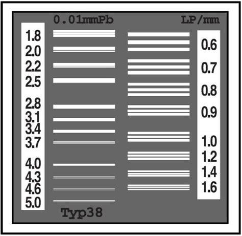 x ray test pattern тест объекты пространственного разрешения тпр high