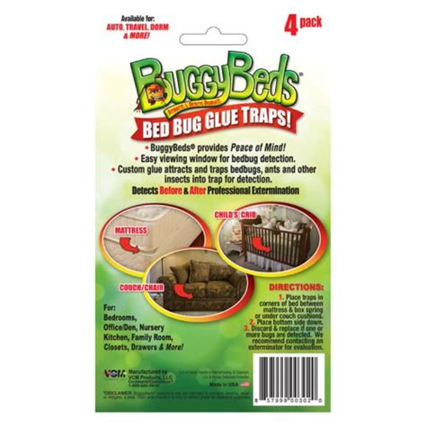 bed bug catcher bed bug trap buggybeds home glue traps 4 pack detect