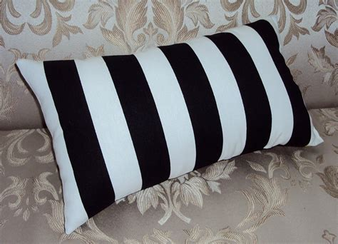 black and white striped pillow black and white stripe decorative lumbar pillow cover