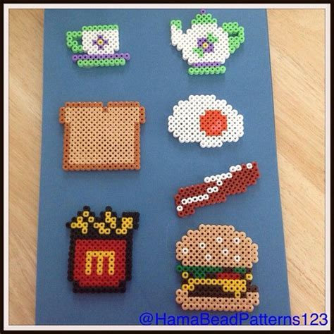 perler bead food 1000 images about hama food on perler