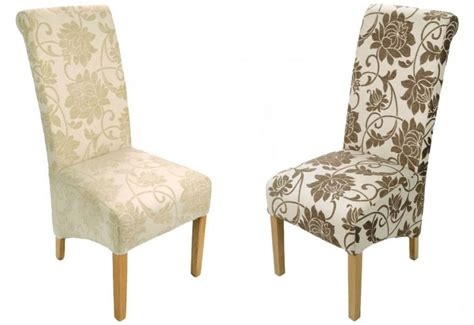 Shankar Mia Dining Chairs Natural Oak Legs Patterned Floral Fabric Dining Chairs
