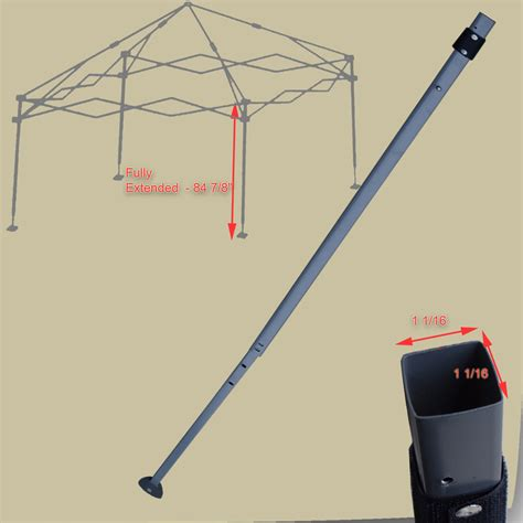 coleman cer awning replacement coleman straight leg 12x12 canopy extended adjustable leg
