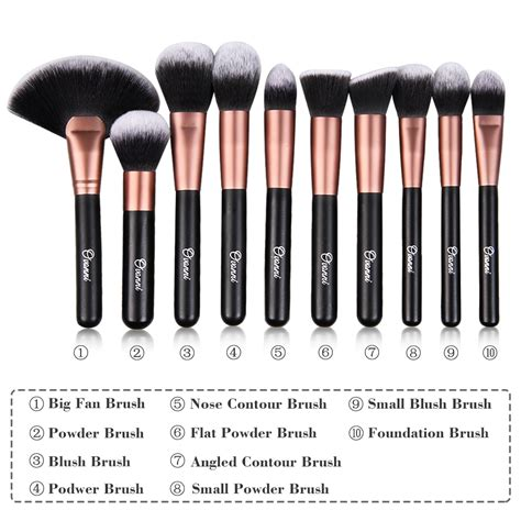 Set Of 7 Makeup Tool Set makeup brushes kit makeup vidalondon