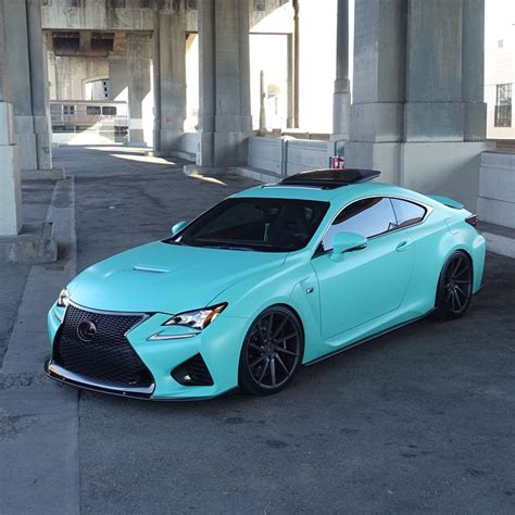 lexus rcf blue lexus rcf in a light turquoise color cars car care