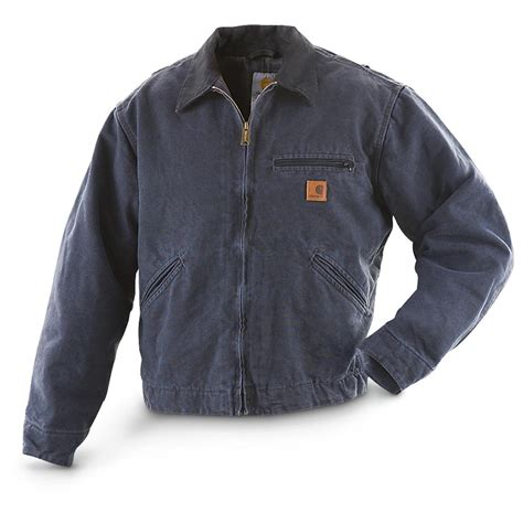 carhartt jacket carhartt detroit duck jacket 222218 insulated jackets coats at sportsman s guide