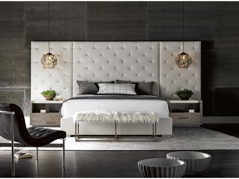 universal furniture modern brando king bed  panels