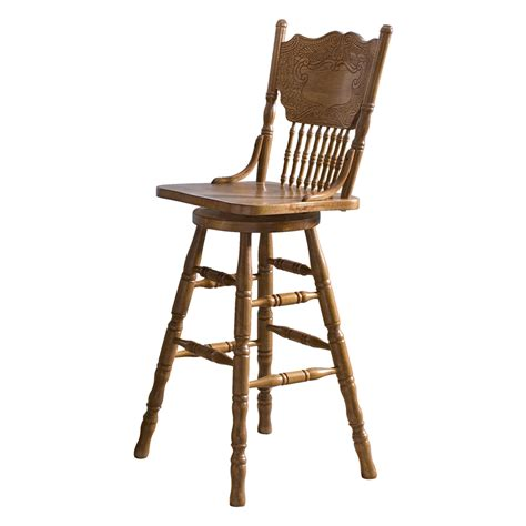 Oak Bar Stools With Back by Shop Liberty Furniture Nostalgia Medium Oak Bar Stool At