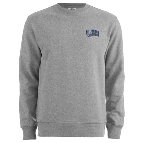 Sweater Billionaire Boys Clubkingkonveksi 2 billionaire boys club s small arch logo crew neck sweatshirt grey free uk