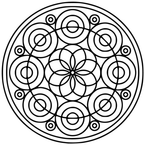 imagenes de mandalas con circulos dibujo de mandala de c 237 rculos para colorear dibujos para
