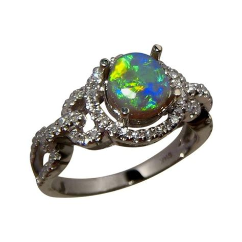 black opal mens ring round black opal ring 14k gold black opal ring