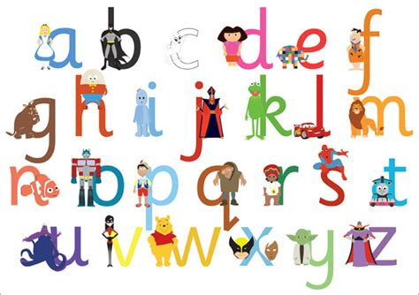 Character With Letter K A3 Children S Tv Character Alphabet Lowercase