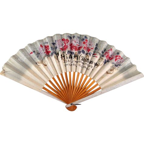 Paper Fans - restaurant chicago souvenir paper fan from