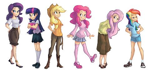 Harmony Home Design Group Mane Six Lineup By Ric M On Deviantart