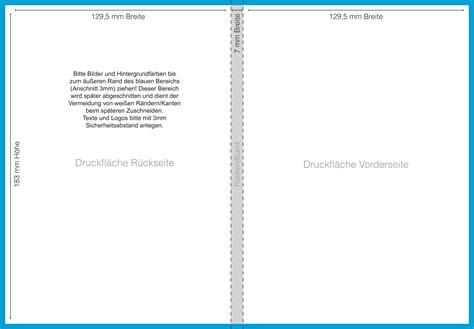 Word Vorlage Cd Booklet Dateivorgaben