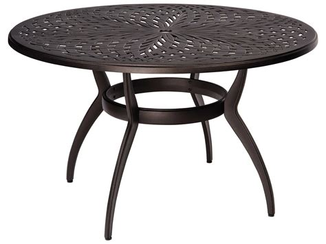Woodard Apollo Aluminum 48 Round Dining Table With Woodard Patio Table