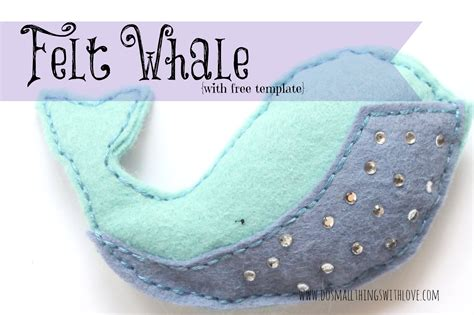 felt orca pattern felt whale with free template do small things with