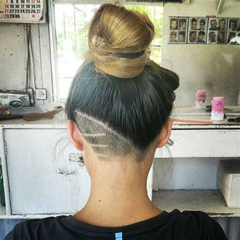 nape shave styles bun 50 women s undercut hairstyles to make a real statement