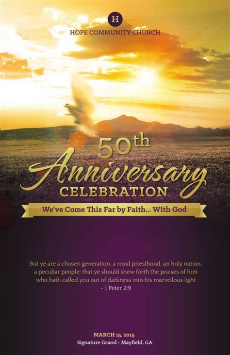 Flipsnack Church Anniversary By Michael Taylor Church Anniversary Program Template 2
