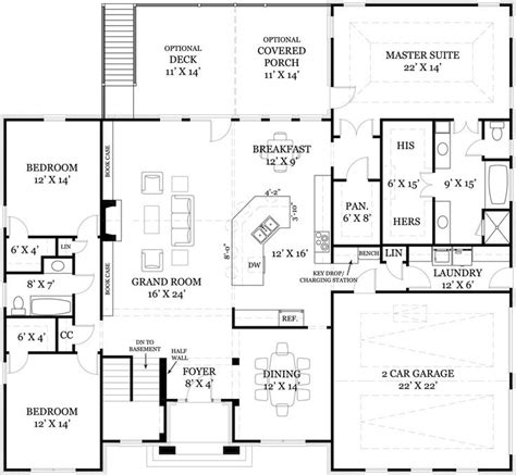 4 Bedroom Ranch House Plans With Basement | beautiful four bedroom house plans with basement 3