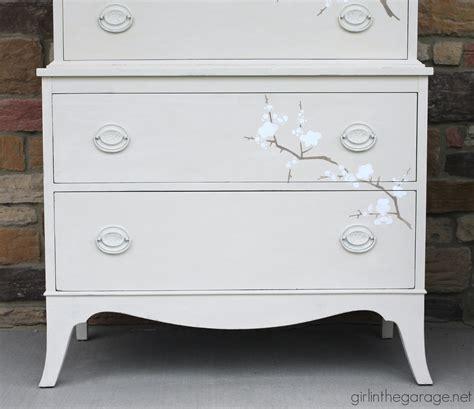 Stencil Dresser by Cherry Blossom Dresser Makeover In The Garage 174