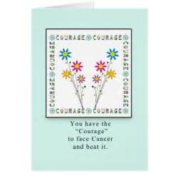 courage flowers in square cancer greeting card zazzle