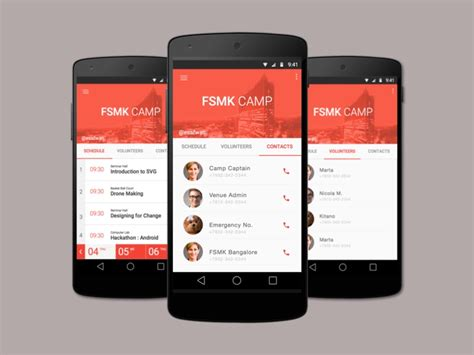 design event app event app ui in material design uplabs