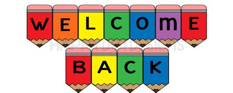 printable classroom banner printable welcome back banner classroom sign rainbow pencils