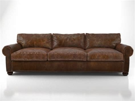 restoration hardware lancaster sofa 96 quot lancaster leather sofa 3d model restoration hardware