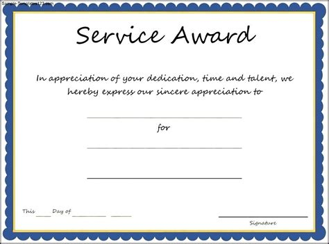 28 long service certificate template sle long