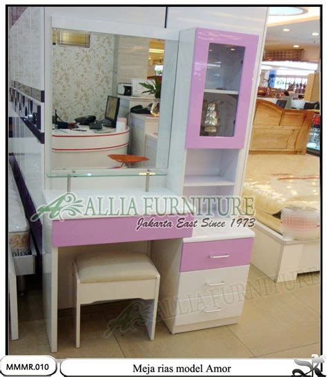 meja   rias minimalis modern amor allia furniture
