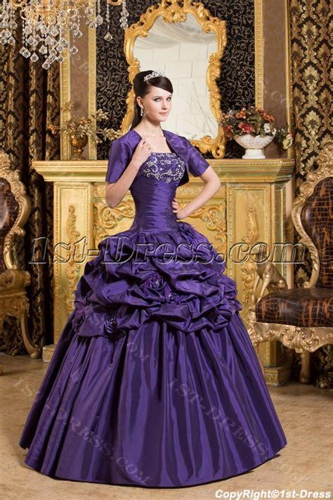 Noble Purple Princess Quinceanera Gown with Short Boleros:1st dress.com