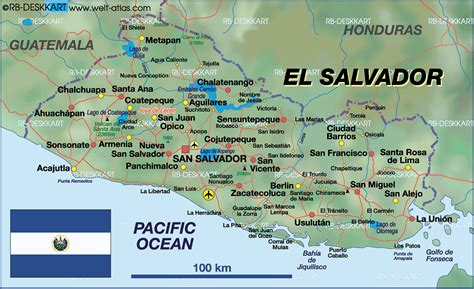 the map of el salvador map of el salvador map in the atlas of the world world
