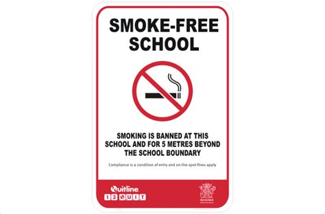 no smoking signs queensland qld smoke free school p22535 national safety signs