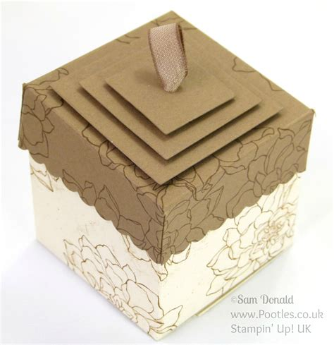 Lidded Box Template by Lidded Box Tutorial Using 169 Stin Up Squares Framelits