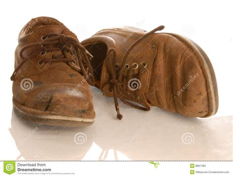 worn leather shoes stock photos image 8867483