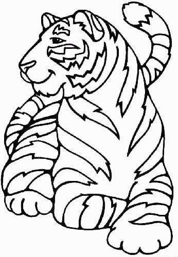 tiger coloring pages for kids coloringpagesabc com