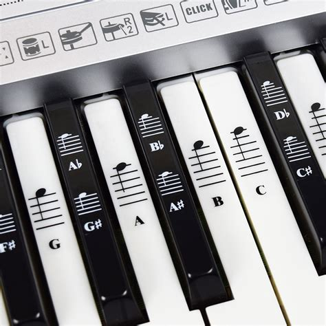 piano and keyboard note stickers piano and keyboard note set stickers for white