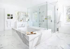 Bathroom Showers For Two Statuary Marble Bathroom Floor Design Ideas