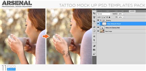 tattoo mockup photoshop templates pack by go media introducing the tattoo mockup photoshop templates pack