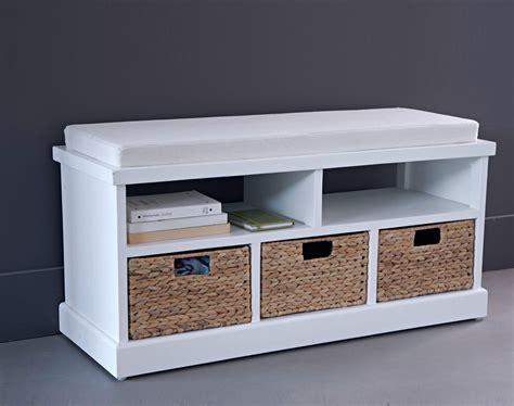 cuisine banc de rangement en bois et coton blanc l cm