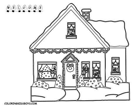 village house coloring pages jolly christmas coloring pages christmas day free