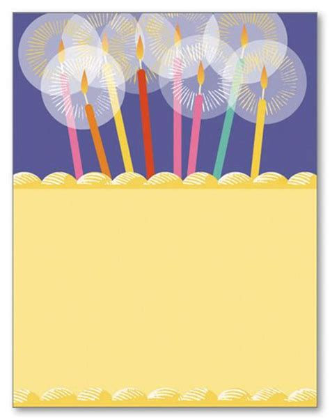 birthday candle card template birthday candle stationery wedding stationery letterhead