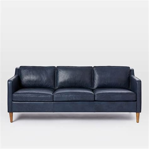 Pigmented Leather Sofa Hamilton Leather Sofa 81 Quot West Elm