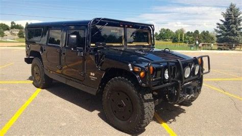 armored h1 hummer for sale purchase used 1997 armored black h1 hummer wagon in