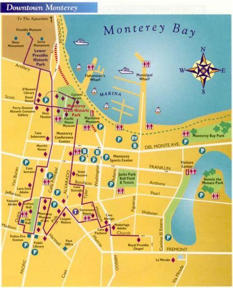 map monterey ca fisherman s wharf monterey ca california beaches