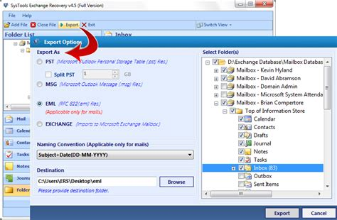 email format eml how to export exchange email into eml file format
