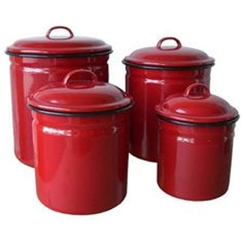red canisters kitchen decor favorite depression glass vintage pottery on pinterest