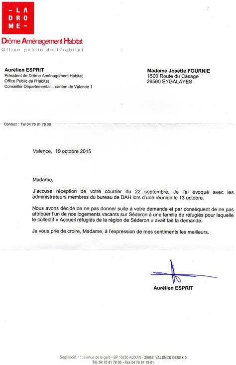 Mod Le De Lettre Demande De Logement Social Modele De Lettre De Refus De Logement Social Contrat De Travail 2018