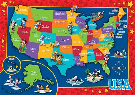 us map puzzle for toddlers disney u s map puzzle jigsaw puzzle puzzlewarehouse