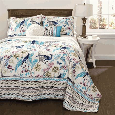 Peacock Blue Quilt by Blue Peacock 5 Quilt Set